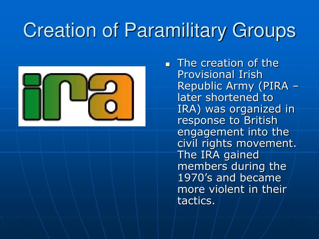 Creation of Paramilitary Groups