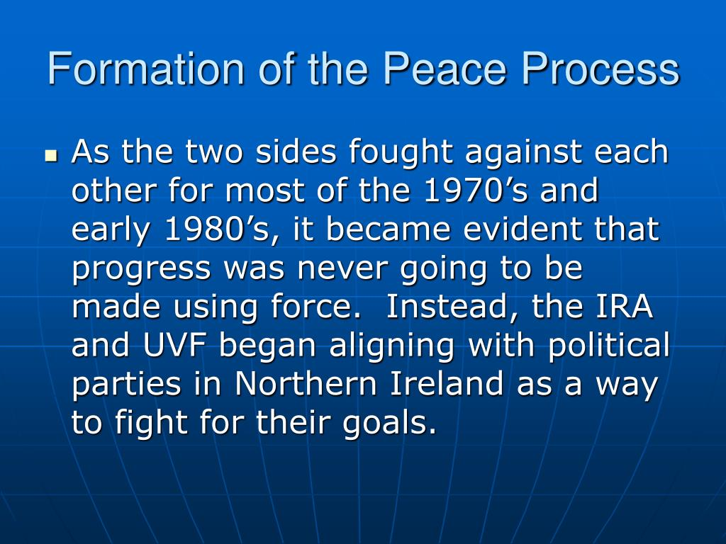 Formation of the Peace Process