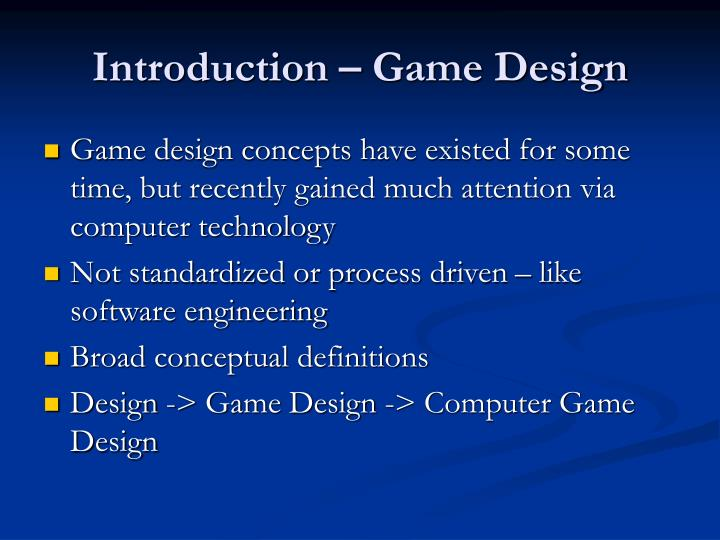 Introduction game design3