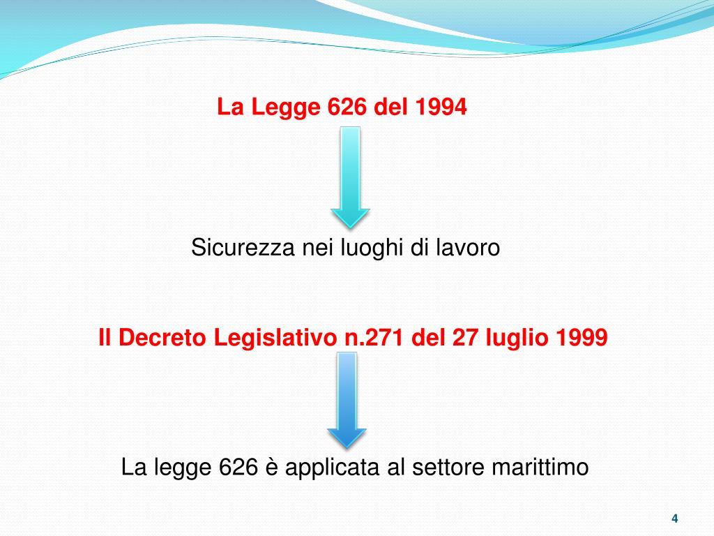 La Legge 626 del 1994