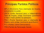principais partidos pol ticos