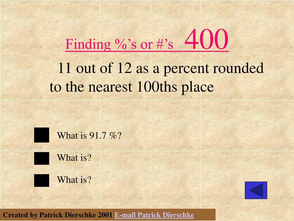 Finding %'s or #'s