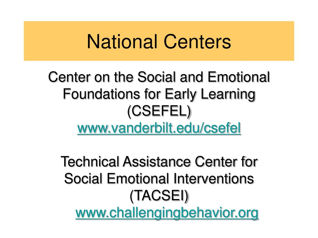 Center on the Social and Emotional