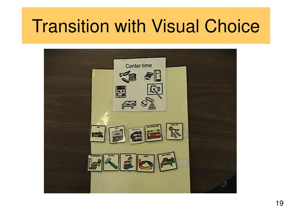 Transition with Visual Choice