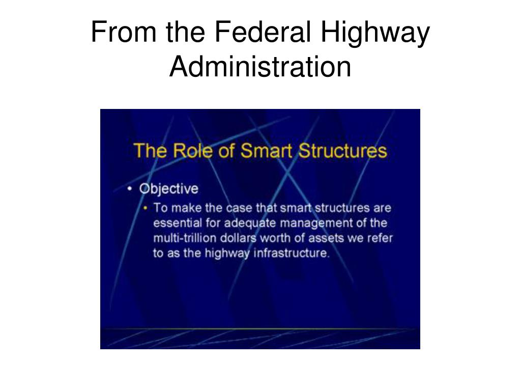 From the Federal Highway Administration