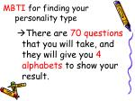 mbti for finding your personality type
