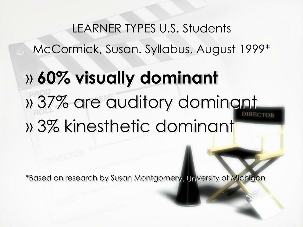 LEARNER TYPES U.S. Students