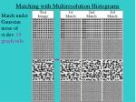 matching with multiresolution histograms30