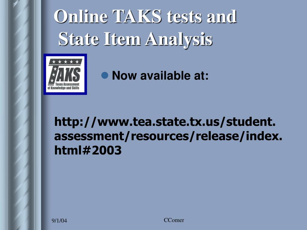 Online TAKS tests and
