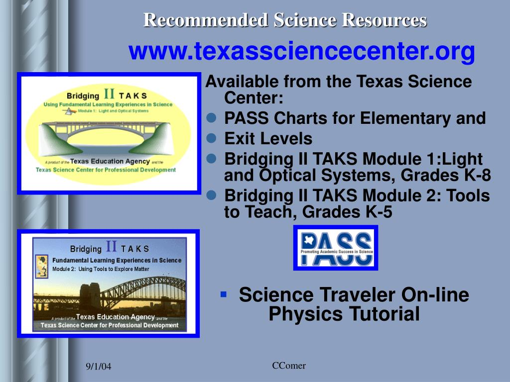 Recommended Science Resources