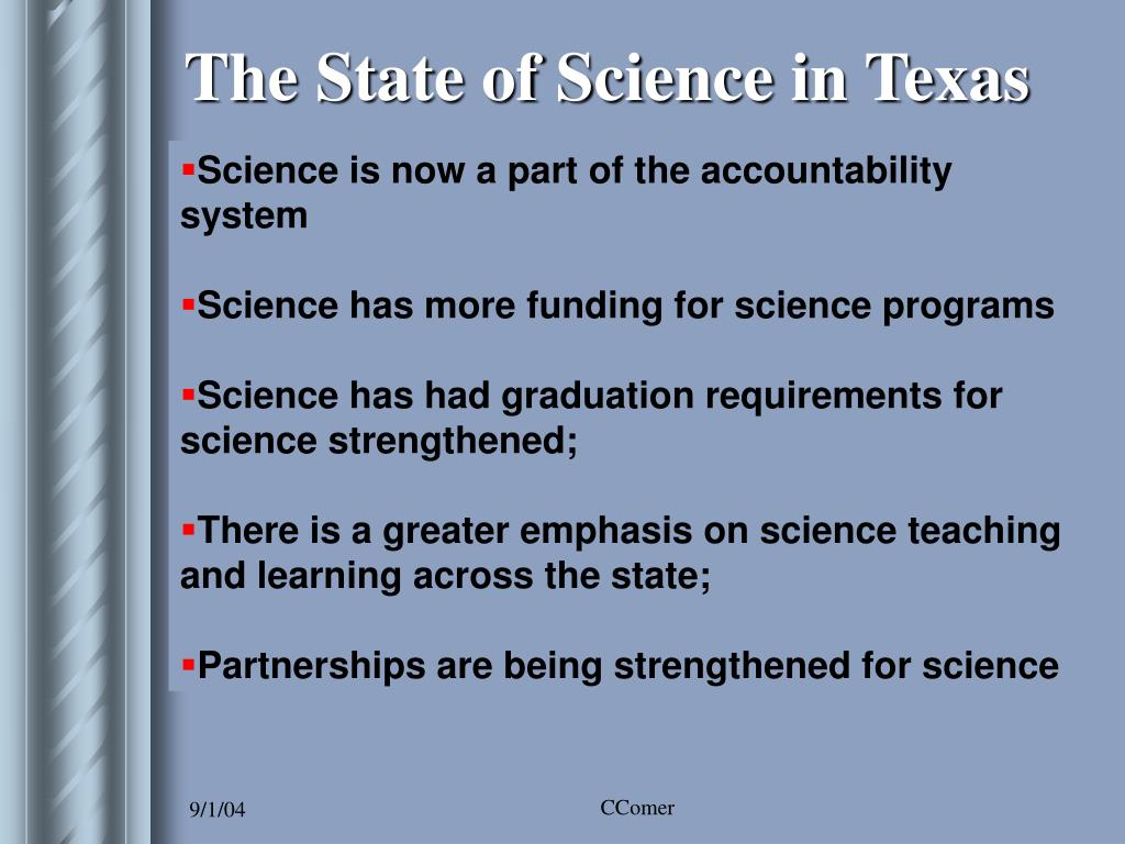 The State of Science in Texas