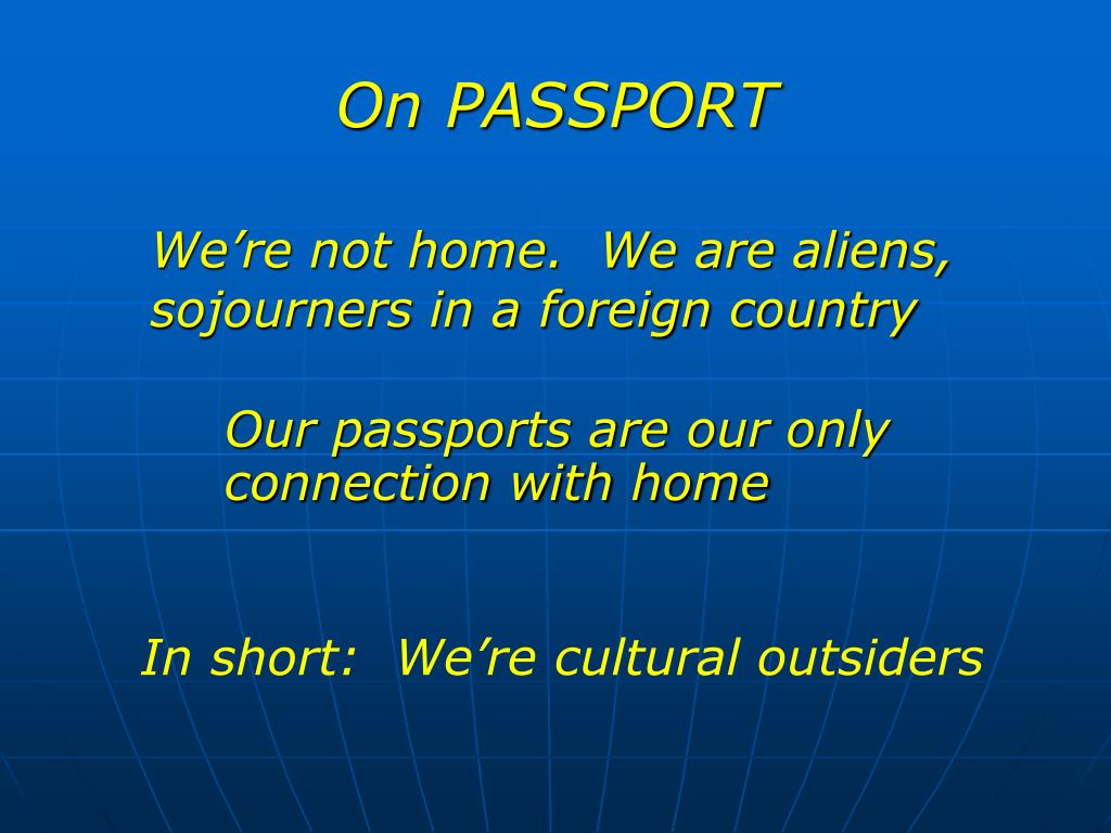 On PASSPORT