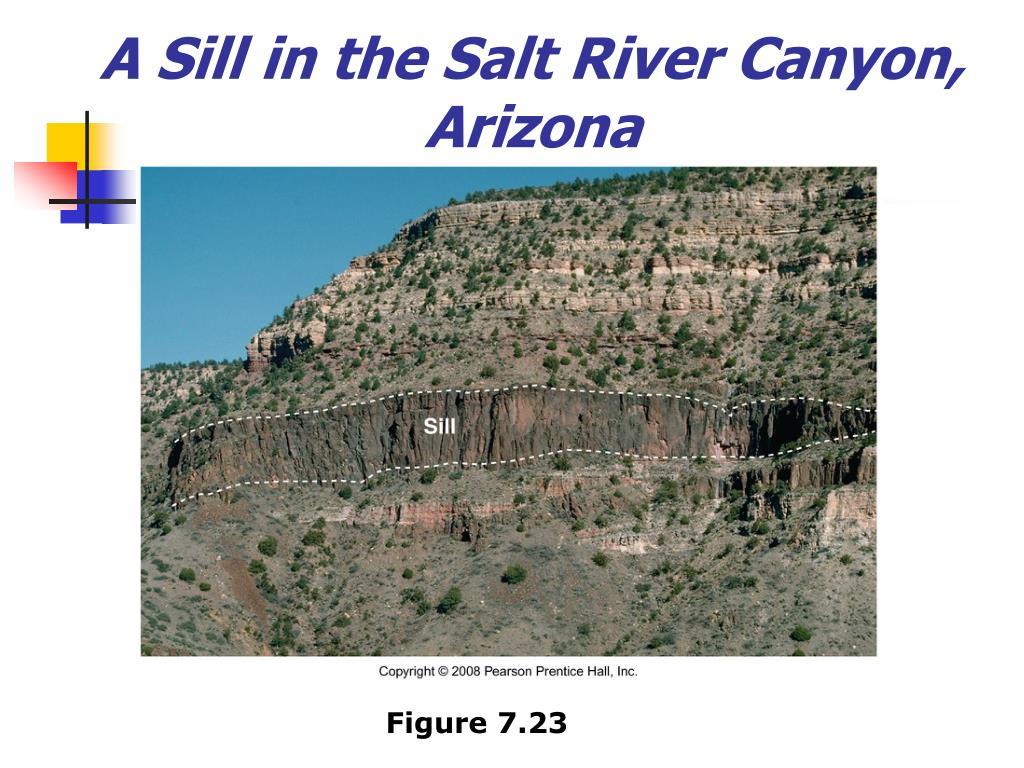 A Sill in the Salt River Canyon, Arizona