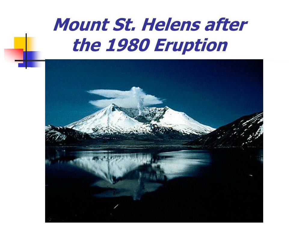Mount St. Helens after