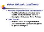 other volcanic landforms23