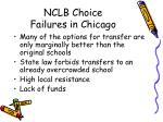 nclb choice failures in chicago