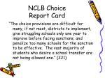 nclb choice report card21