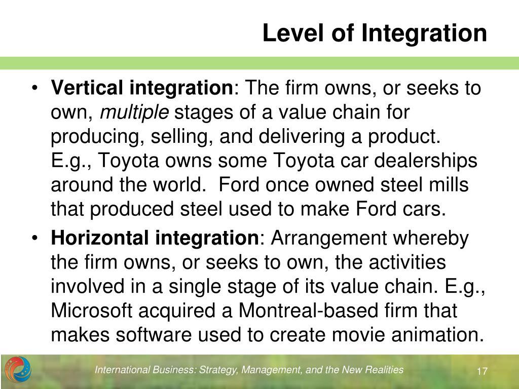 Level of Integration