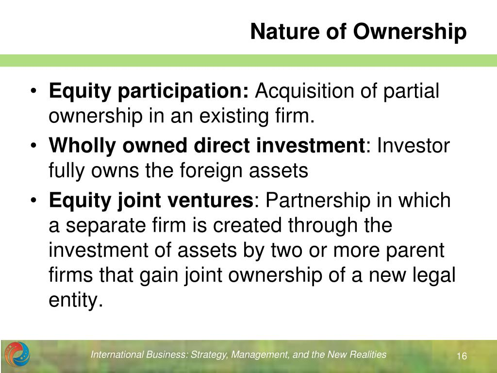 Nature of Ownership