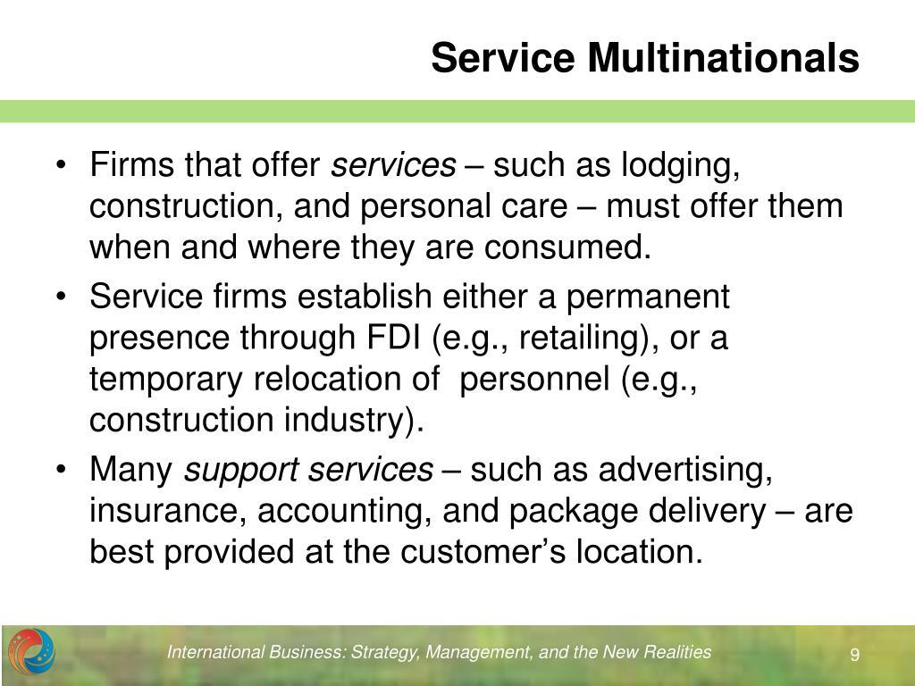 Service Multinationals