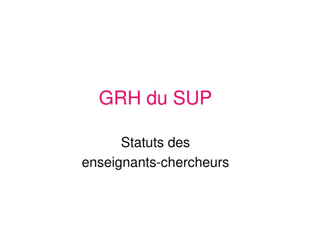 GRH du SUP