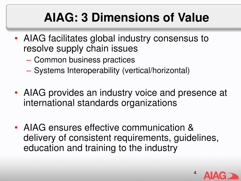 AIAG: 3 Dimensions of Value