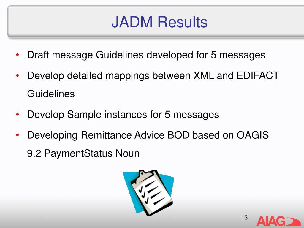 JADM Results