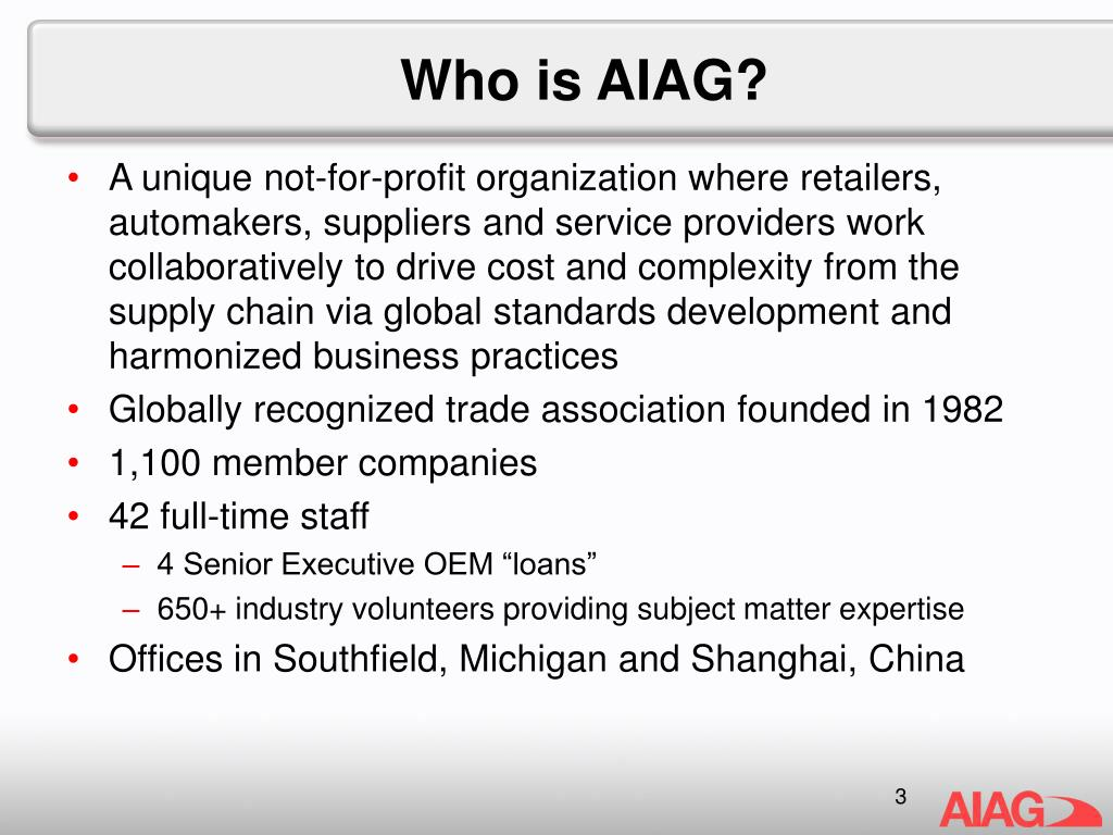 Who is AIAG?