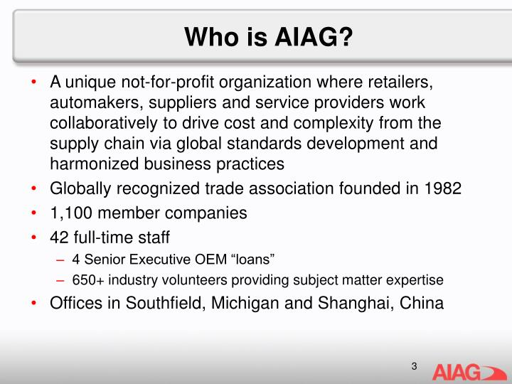 Who is aiag