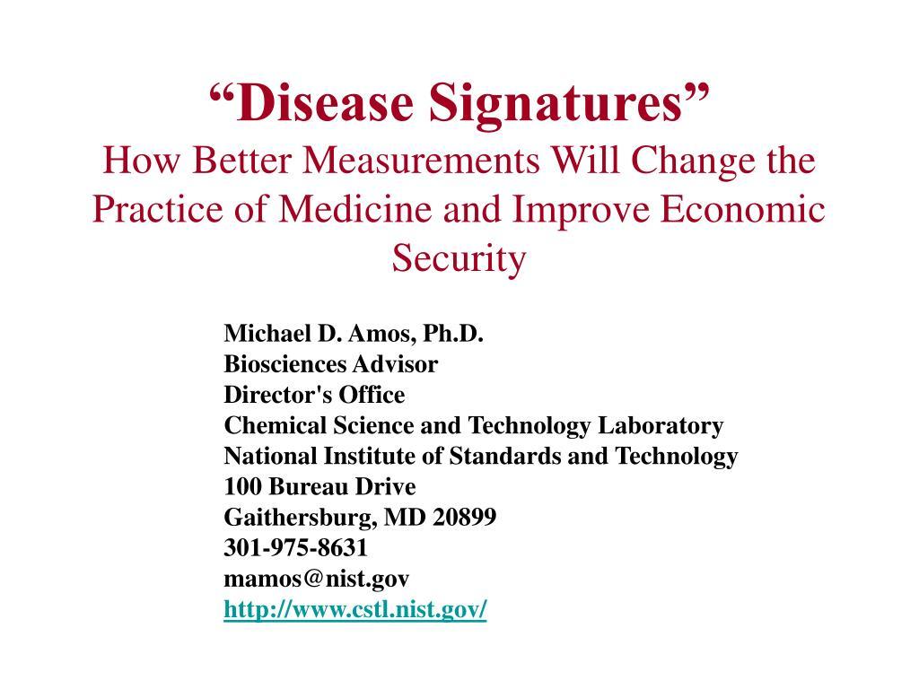"""""""Disease Signatures"""""""
