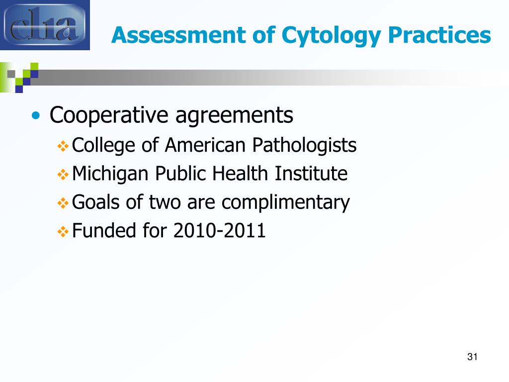 Assessment of Cytology Practices