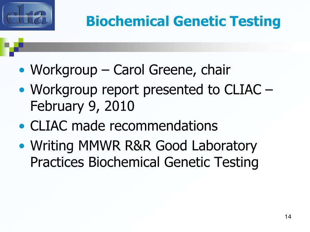 Biochemical Genetic Testing