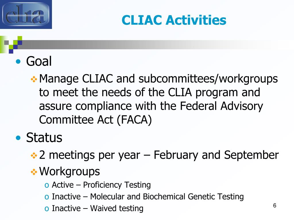 CLIAC Activities