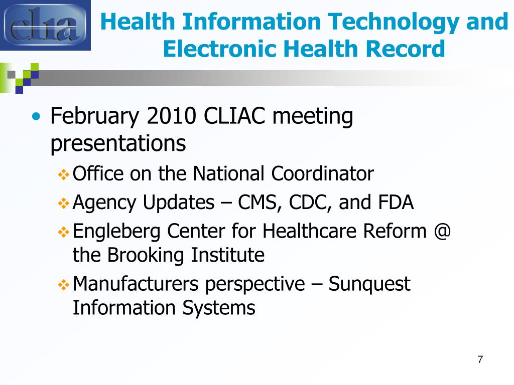 Health Information Technology and Electronic Health Record