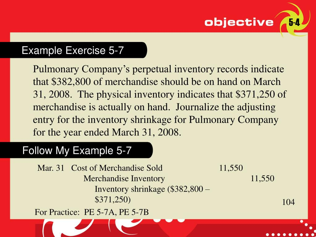 Example Exercise 5-7