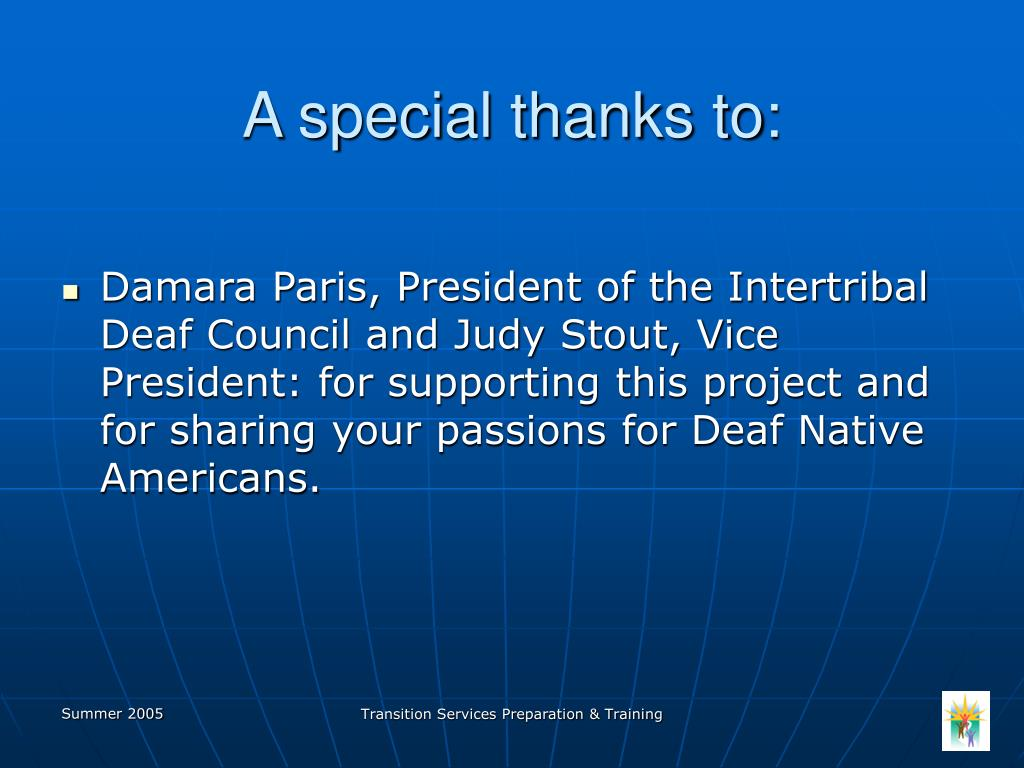 A special thanks to: