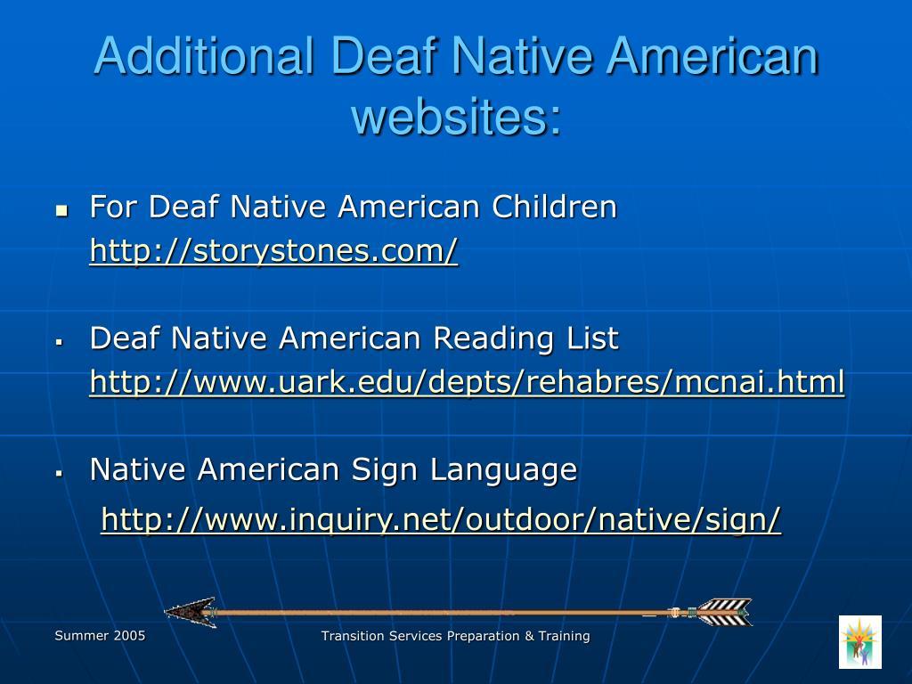 Additional Deaf Native American websites: