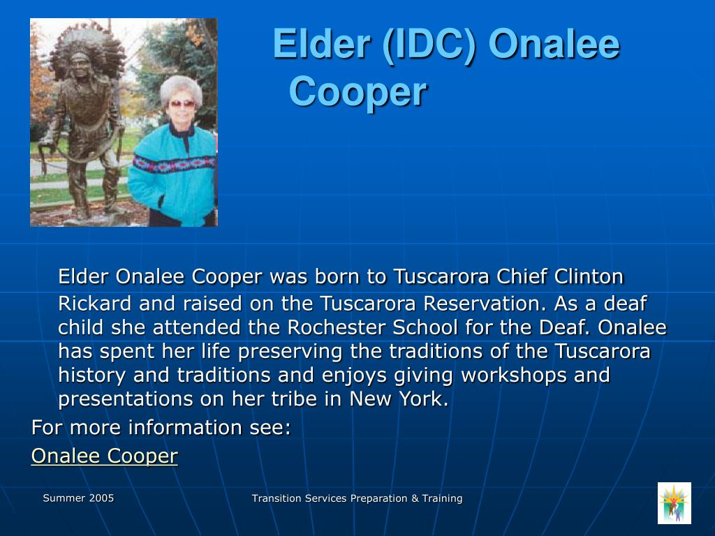 Elder (IDC) Onalee Cooper