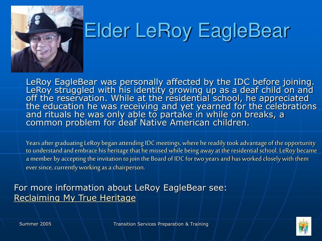 Elder LeRoy EagleBear