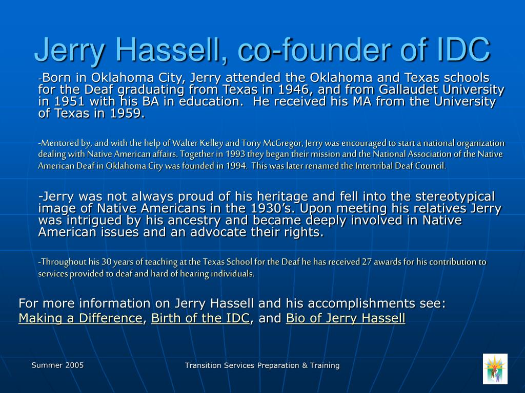 Jerry Hassell, co-founder of IDC
