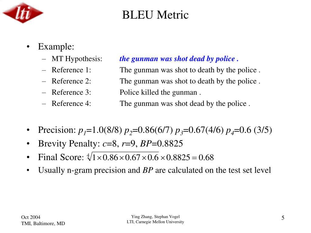BLEU Metric
