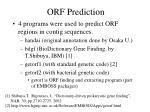 orf prediction
