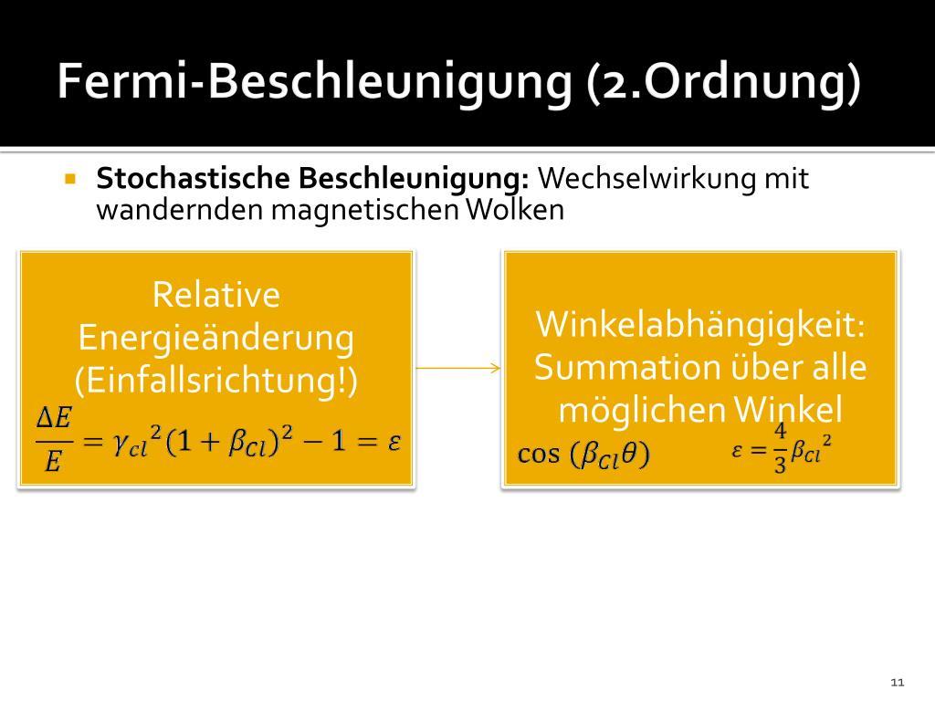 Fermi-Beschleunigung (2.Ordnung)