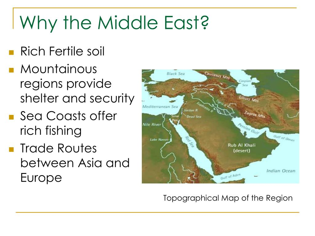 Why the Middle East?