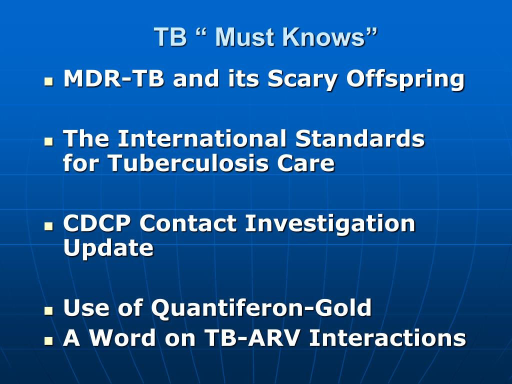 """TB """" Must Knows"""""""