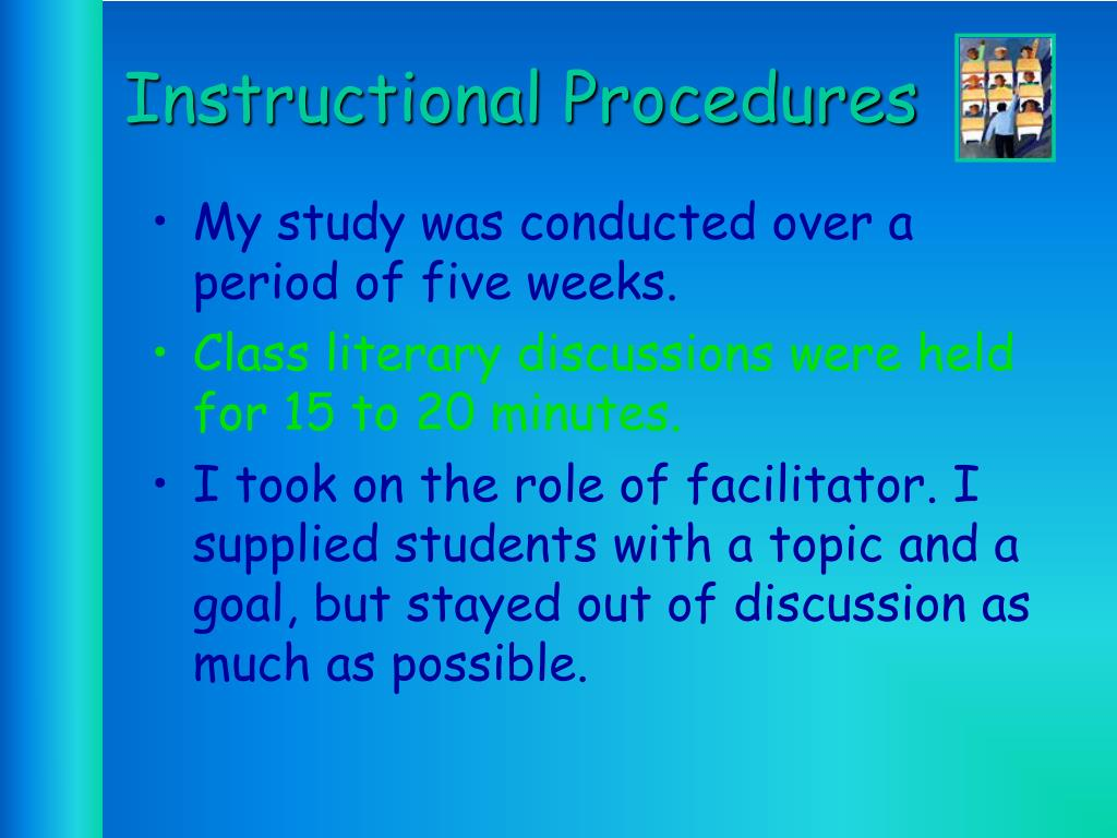 Instructional Procedures