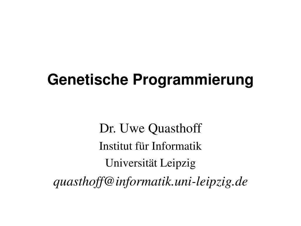 genetische programmierung l.