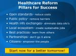 healthcare reform pillars for success