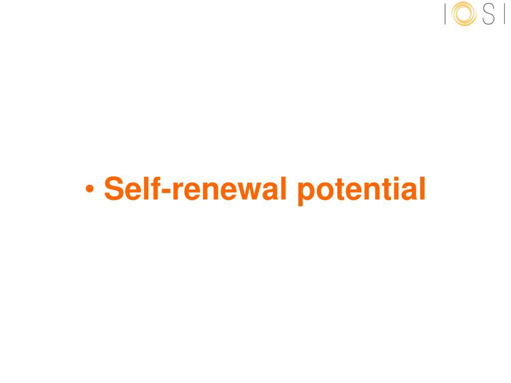 Self-renewal potential