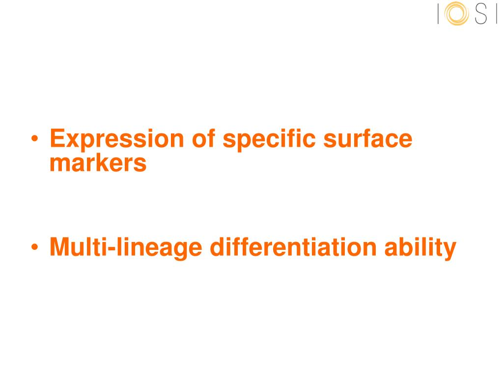 Expression of specific surface markers